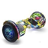 Gmjay Hoverboard Hoverboard de 10', Dos Ruedas, Autoequilibrado, con Luces LED para Niños y Adultos,Yellow