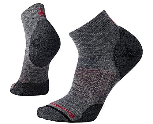 Smartwool PhD Outdoor Light Mini Socks - Men's Wool Performance Sock Medium Medium Gray