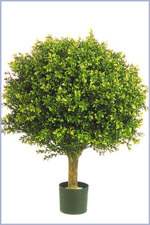 Licht & Grün exclusive Kunstpflanzen Künstliche Buchskugel für den geschützten Auenbereich max.40cm Durchmesser Spitzen-Qualitt