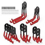 Garage Hooks,FYSMY 12-Pack Utility Double Heavy Duty Steel Garage Storage Hooks,Wall Mount Garage...