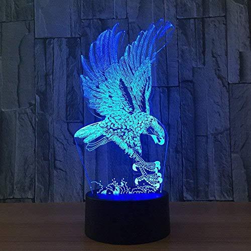 Baby Spielzeug 3D uhu lámpara ilusión noche luz escritorio decoración lámparas juguetes