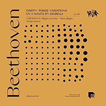 Beethoven: Thirty-Three Variations on a Waltz by Diabelli, Op. 120: Variation 21. Allegro con brio - Meno allegro - Tempo primo