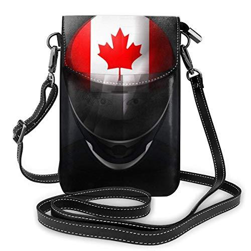 Kanadische Flagge Leder Handy Geldbeutelhalter Brieftasche Functional Multi Poet für Frauen