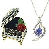 [デバリエ]y441-pb(sap) 9月誕生日プレゼント 女性 人気 彼女 母 贈り物 ネックレス レディース ギフト セット品(オルゴール1組 ネックレス1組) ラッピング付