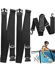 Surfplank schouderriem, draagriem voor SUP-board, verstelbare surfboard, draagriem voor kajak, kano, surfboard, zeil (zwart)