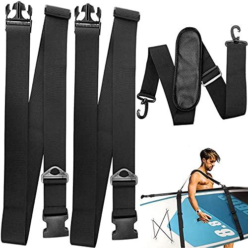 Tabla de Surf Correa de Transporte Correa de Tabla de Surf Arnés de Kayak Correa de Hombro de Tabla de Surf Correa de Tabla de Surf Ajustable, para Kayak, Canoa, Tabla de Surf, Vela (Negro)