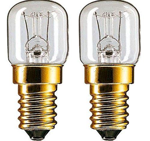 Philips 2x Backofenlampe 15W 230V E14 SES 49x22mm 2700K EEK=E - [Energieklasse E]