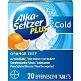 Alka-Seltzer Plus Cold Medicine, Orange Zest Effervescent Tablets with Pain Reliever/Fever Reducer,...