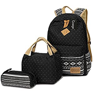 Girls Backpack With Lunch Bag, School Backpacks for Teen Girls,3 in 1 Backpack Sets