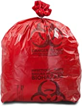 TOTAL HYGIENE Bio Waste Virgin Printed Garbage Bag (RED, 19X21)-100 Pieces