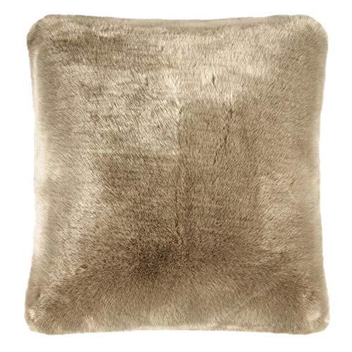 Pad - Kissenhülle - Kissenbezug - SHERIDAN - Kunstfell - taupe / beige - 45 x 45 cm