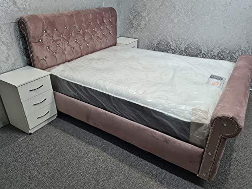 Chesterfield-Betten mit Diamant-Stickerei, für Einzelbett, Rautenmuster