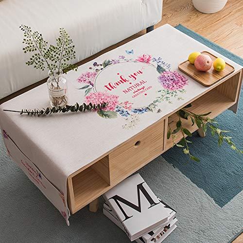 YXDZ - Mantel nórdico minimalista rectangular para mesa de centro