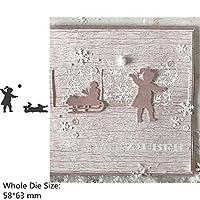 スクラップブッキングやカード作るためのハロウィーンの冬ガールボーイハウスフラワーWordの金属切削ダイス (色 : H4058)