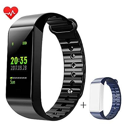 LEMFO Fitness Tracker, Heart Rate Monitor Full Color Screen IP67 Swimming Waterproof Bracelet Smart Fitness Watch Wristband Sleep Monitor Activity Tracker Smartband