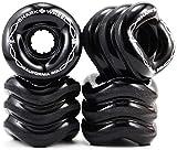 Shark Wheel California Rolls Skateboard Wheels 60mm, 78a - Black