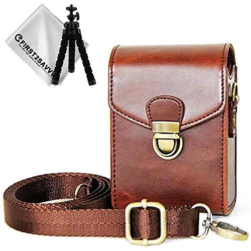 First2savvv Premium PU Leder Kameratasche für Panasonic Lumix DMC TZ200 TZ100 TZ110 TZ91 TZ90 TZ81 TZ80 ZT70 ZT71 TZ60 TZ61 - BDX21-TZ200-10