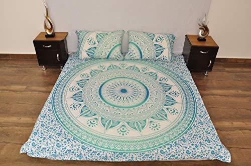 Indian Turquoise witte Urban Aztec Outfitters wandtapijt opknoping Mandala sprei Gypsy Cover Boho Queen Dubbel Doona & 2 kussensloop Set 100% katoen 92