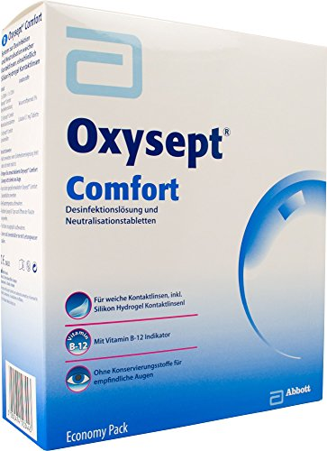 AMO Oxysept Comfort Peroxid-System Economy Pack, (2 x 300 ml)