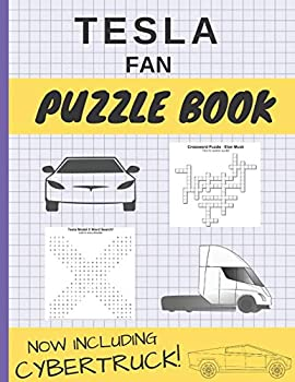 Tesla Fan Puzzle Book  Tesla Motors Fan Puzzle Book for Adults and Kids of All Ages