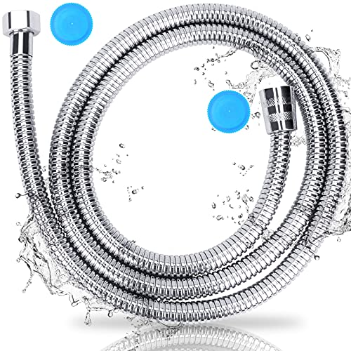Shower Hose Replacement, 59IN Shower Hose Extension, Durable Connector Shower Pipe, Kink-Free Stainless Steel Shower Hose Extender, Flexible Pet Shower Hose Head, Shower-Head Hose Extension (59)