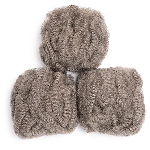 Afro kinky human hair bulk wholesale _image4