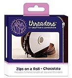 Threaders Zips On Rollo Cremalleras Continuas 5M con 10 Deslizadores para Proyectos de Costura Chocolate Cafe, poliéster, 10.2 x 5.4 x 10.2 cm