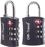 OW-Travel Candado maleta TSA Anti robo. Candado numerico 3 Digitos. Candado Combinacion Taquilla. Candados para mochilas...