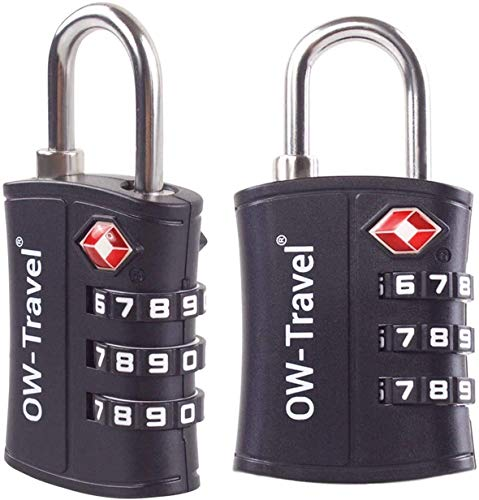 OW-Travel Candado maleta TSA Anti robo. Candado numerico 3 Digitos. Candado Combinacion...