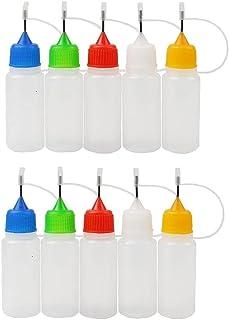 10Packs Precision 15ml nålspets Glue Bottle plast droppflaska Needle Drip Tips flaskor för DIY Craft (Random färg)