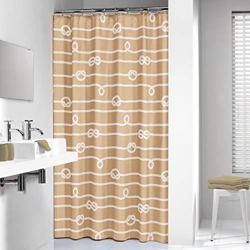 Sealskin Textil Duschvorhang Rope, Farbe: Sand, B x H: 180 x 200 cm
