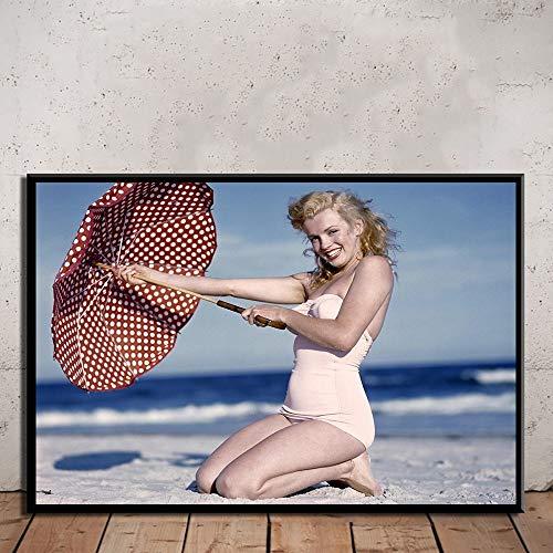 JXMK drucken Leinwand Hauptdekoration Wandkunst Schauspieler Malerei Form Poster HD modernes Bild für Wohnzimmer Rahmen