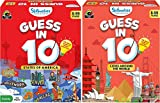 Skillmatics Guess in 10 - Sates of America + Cities Around The World (Ages 8-99) Bundle | Card Game of Smart Questions | General Knowledge for Kids, Adults and Families | Gifts for Kids
