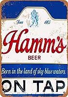 Hamm's Beer on Tap 注意看板メタル安全標識壁パネル注意マー表示パネル金属板のブリキ看板情報サイン