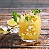 Herz & Heim® Whiskeyglas (Bohemia) mit kostenloser Gravur - Last Gentleman - tolle Geschenkidee für Ihren Lieblingsmenschen - 2