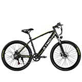GTWO 27.5 Inch Electric Bicycle 350W Mountain Bike 48V 9.6Ah Removable Lithium Battery 5 PAS Front & Rear Disc...