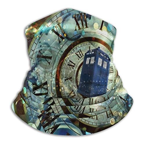 Doctor Dr Who Police Cooling Face Scarf Cover Mask Neck Gaiter, Headband Fishing Mask, Reusable Breathable Bandana Balaclava, Motorcycle Face Cover for Men Women