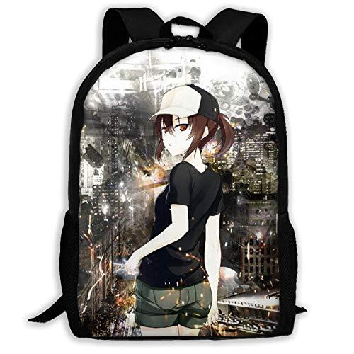 Anime A Certain Scientific Railgun Mochila de viaje ligera al aire libre escuela universidad bolsa durable impermeable computadora mochila niños niñas