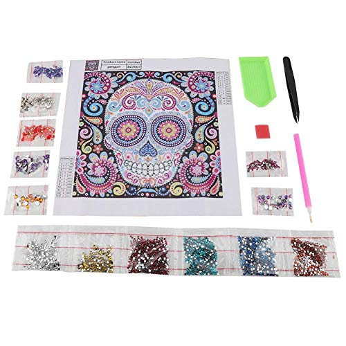 Fdit DIY Special Shape Embroidery Skull Crystal Diamond Painting Kit for Home Decor Crafts(zd007)