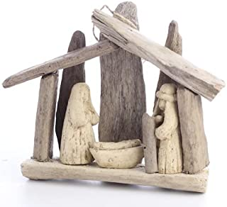 Natural Driftwood Nativity Display for Unique Holiday Decor and Embellishing