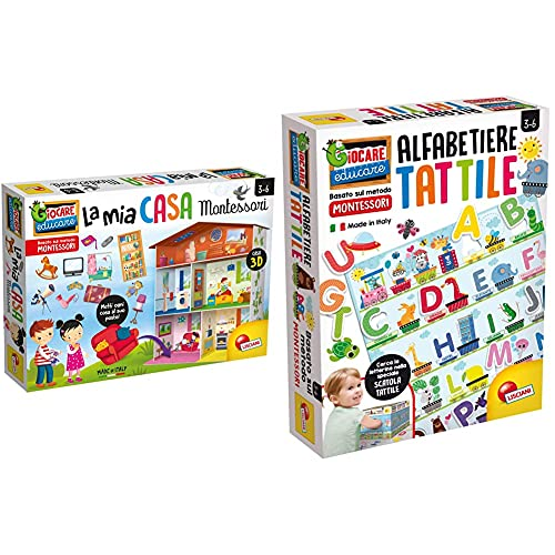 Lisciani Giochi Giocare Educare, Montessori La Mia Casa, 72477 & Montessori Alfabeto Tattile, 72446