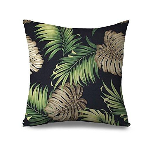 Palm Tree Couvre-lit taies d'oreiller pour canapé Toile Housse de coussin vert tropical osciller Palms Taie d'oreiller zippée pour Home 45,7 x 45,7 cm décoratif canapé taie d'oreiller, Tissu, Colour 5, 18x18
