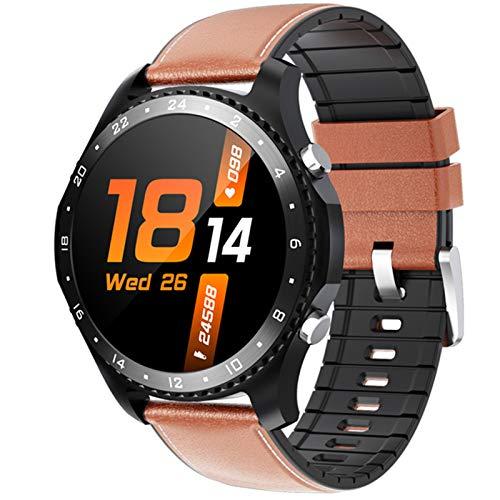 YDZ Smart Watch CK30 Bluetooth Call Frequenza Cardiaca Cardiaca Monitor Smartwatch Dial Fai da Te Faccia IP67 Impermeabile Smart Wristband per Android iOS,A