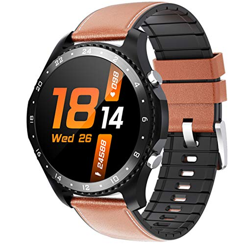 ZRY CK30smArtWatch Men's Smart Watch Ladies Bluetooth Llamada Impermeable Ejercicio Ejercicio Monitor de Ritmo cardíaco Monitor Aptitud Pulsera Reloj para Android iOS,C