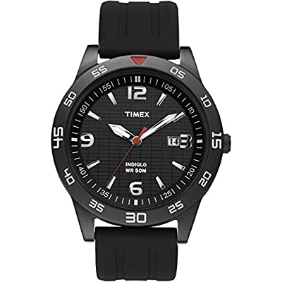 Timex Men's T2N694 Fairlawn Avenue Black Resin Strap Watch