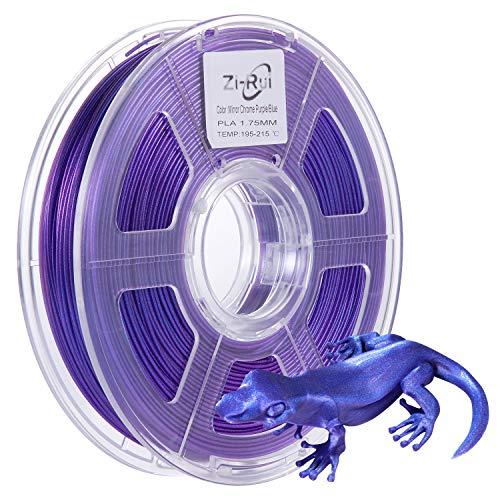 Zi-Rui 3D Printer PLA Filament,1.75mm Mirror Chrome Type-Odd Purple/Blue,Accuracy +/-0.03mm 600G(1.3lbs) Spool