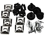 Micro Trader 20 Pcs Undertray Guard Engine Under Cover Fixing Clips Kit Compatible with Audi A4 A6 AU VW