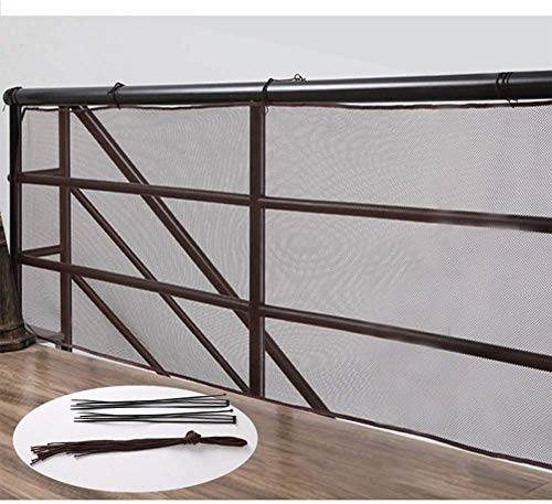 YZJL Cercas Decorativas Valla de balcón Escaleras para niños Barandilla de Malla A Prueba de Viento Antienvejecimiento con Cierre de Cremallera Cercas Interiores y exterioresdecoracion Jardin