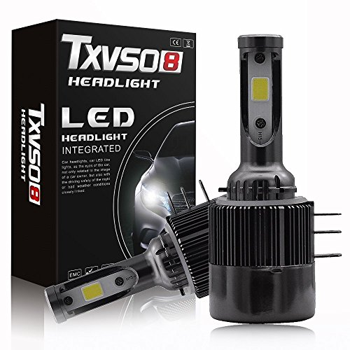LHQ-HQ H15 LED Bombillas Faro COB Chips, 11000Lm 6000K extremadamente brillante All-in-One Kit de conversión, ventilador incorporado y unidades de la luz del coche