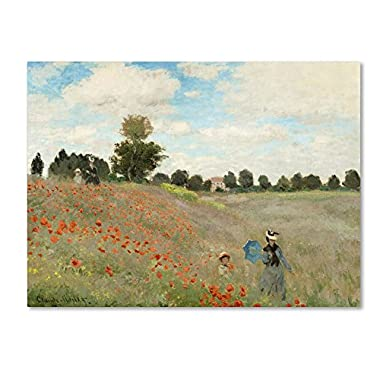 Wild Poppies Near Argenteuil by Claude Monet, 24x32-Inch Canvas Wall Art